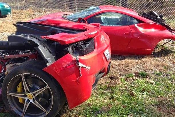 Ferrari 458 Italia split in two