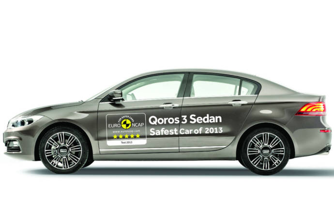 Qoros 3 Sedan - safest car in 2013 by EuroNCAP
