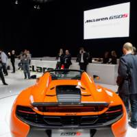 2014 McLaren 650S Spider flex its muscles in Geneva