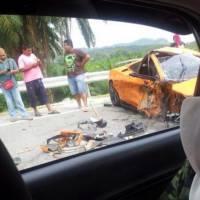 Lamborghini Gallardo LP550-2 Malaysia Limited Edition destroyed
