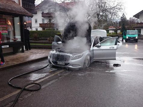 2014 Mercedes-Benz S-Class declared totaled after engine fire