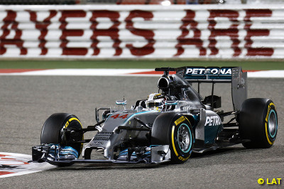 Lewis Hamilton wins the Bahrain GP