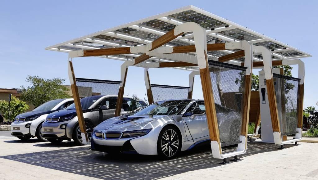 BMW Solar Carport introduced for i8 charging needs