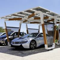 BMW Solar Carport introduced for i8 charging needs