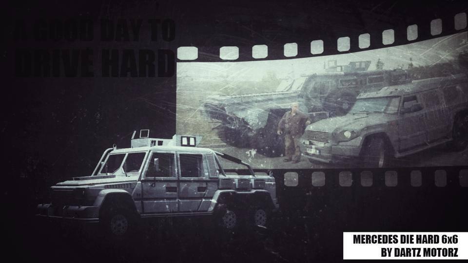 Dartz Mercedes G63 AMG 6x6 armoured car
