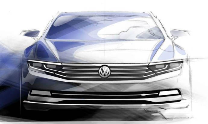 Volkswagen Passat first sketches