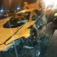 McLaren 650S Spider crashed during test drive