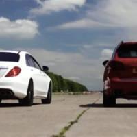 VIDEO Porsche Cayenne Turbo S vs Mercedes S63 AMG