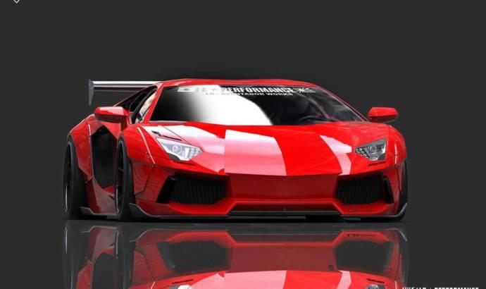 Liberty Walk Lamborghini Aventador tuning kit