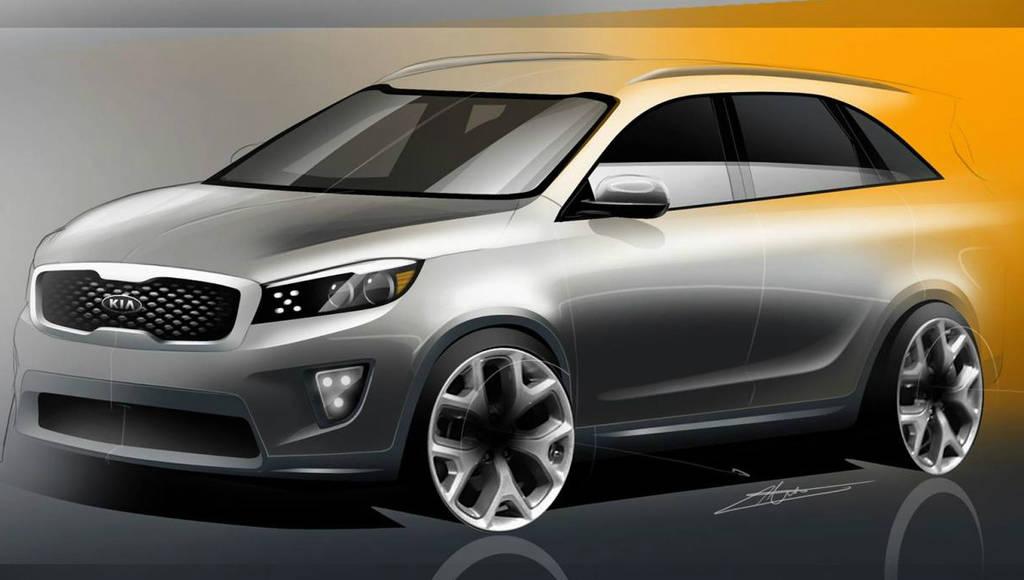 2015 Kia Sorento first sketches unveiled