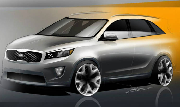 2015 Kia Sorento first sketches unveiled