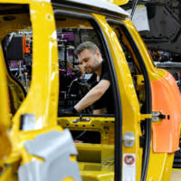 First Mini five-door hatchback rolls off the assembly line in Oxford