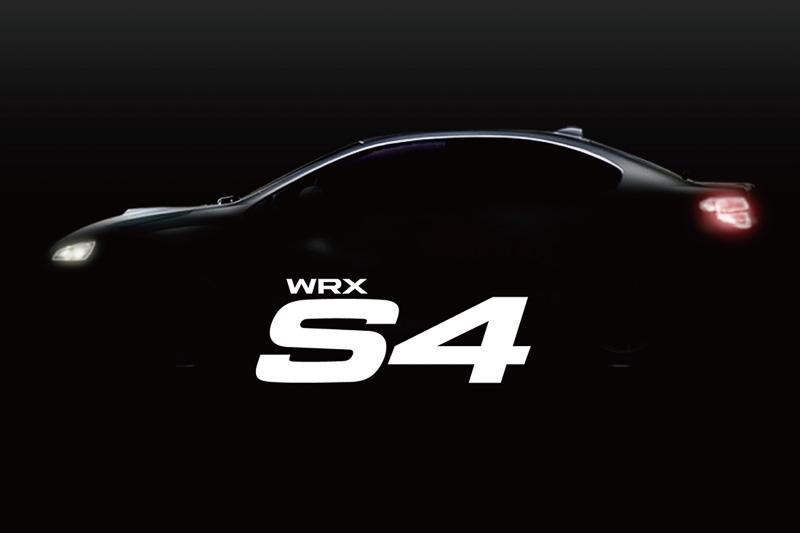 Subaru WRX S4 teaed