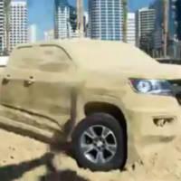 2015 Chevrolet Colorado sand sculpture