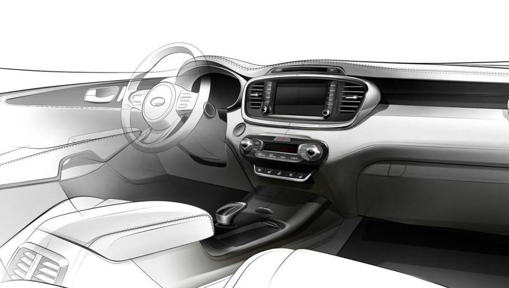 2015 Kia Sorento interior teaser