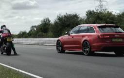 Audi RS6 Avant against the Ducati 1199 Panigale R