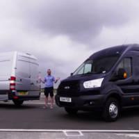 Ford Transit and Mercedes Sprinter track battle