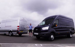 Ford Transit and Mercedes Sprinter track battle