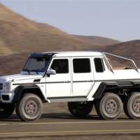 Mercedes G63 AMG 6x6 track tested in Netherland