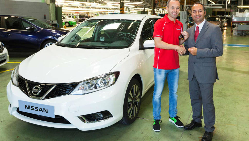 First produced Nissan Pulsar offered to Andres Iniesta