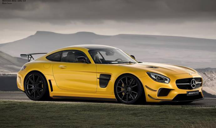 Mercedes-AMG GT dressed in Black Series clothes