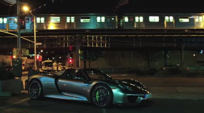Porsche 918 Spyder test drive in Manhattan