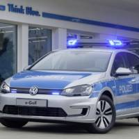 Volkswagen e-Golf police car unveiled in Germany