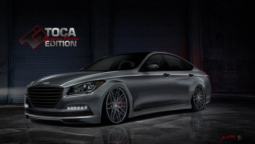 Hyundai Genesis has received a twin-turbo V8 for SEMA Show