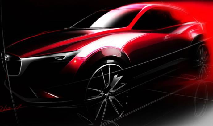 Mazda CX-3 unveiled through an official sketch