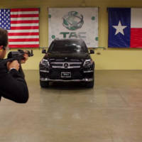 Armored Mercedes GL faces AK47 attack
