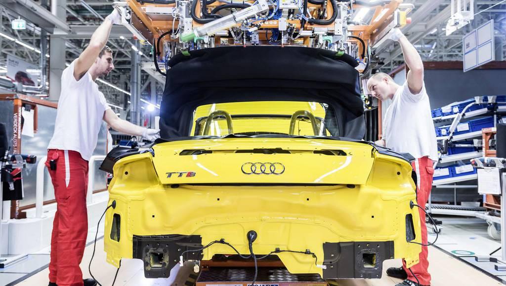 Audi TT Roadster entered production in Gyor factory