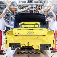 Audi TT Roadster entered production in Gyor factory