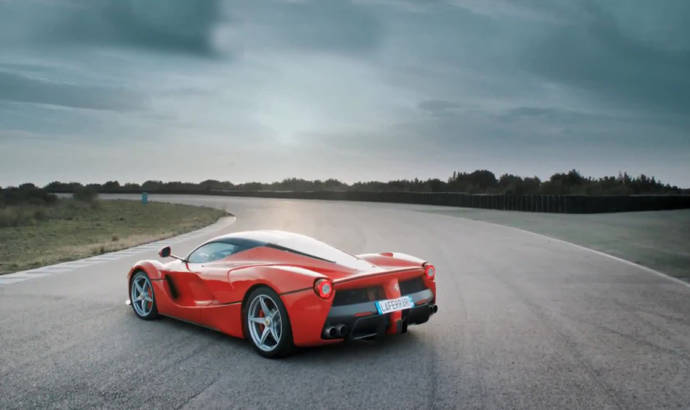 Chris Harris drives the Ferrari LaFerrari