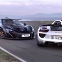 VIDEO: McLaren P1 face to face with Porsche 918 Spyder