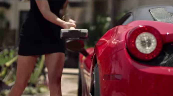 The cheated girlfriend's revenge - Featuring a Ferrari 458 Italia