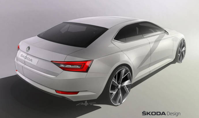 2015 Skoda Superb teased again