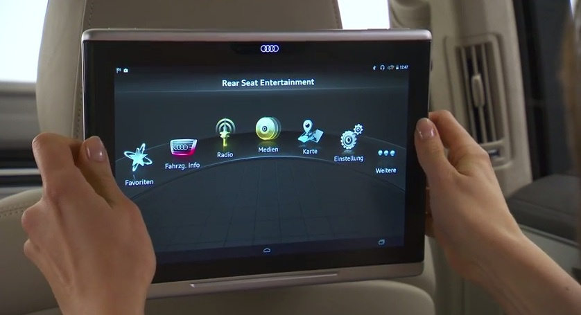 Audi details the new Q7 tablet (Video)