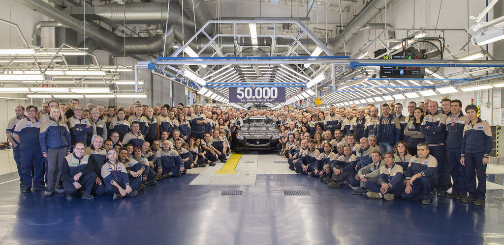 Maserati built its 50.000th car on the centennial day