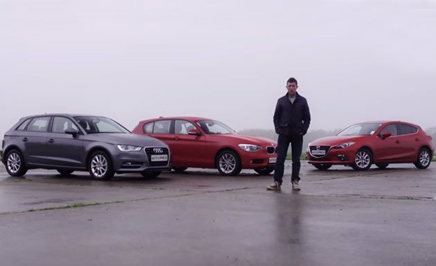 Mazda3 faces BMW 1 Series and Audi A3 in British test
