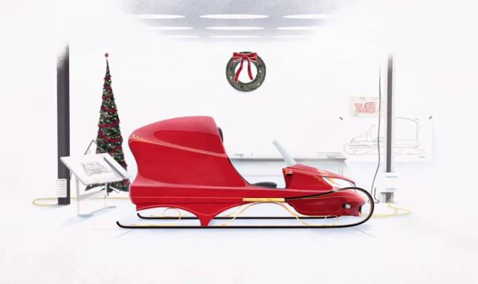 Santa's new sleigh by Honda