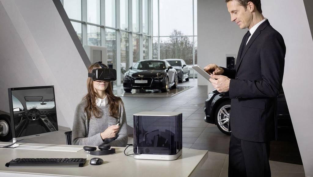 Audi will introduce virtual reality headsets in their showrooms