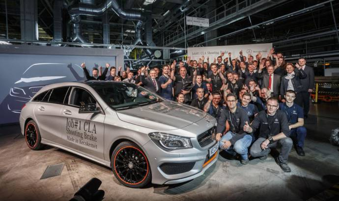 Mercedes CLA Shooting Brake enters production