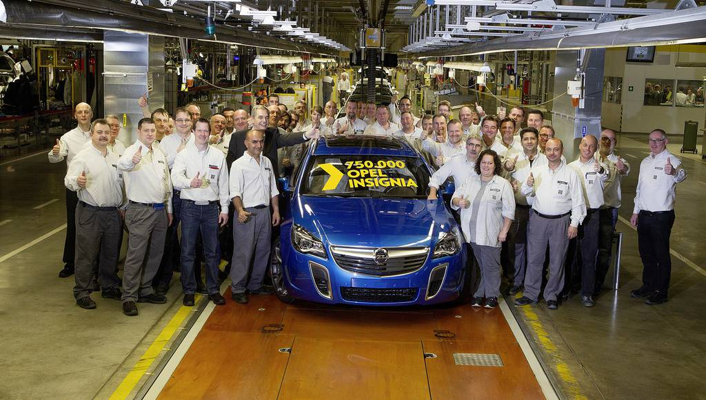 Opel Insignia has reached 750.000 units