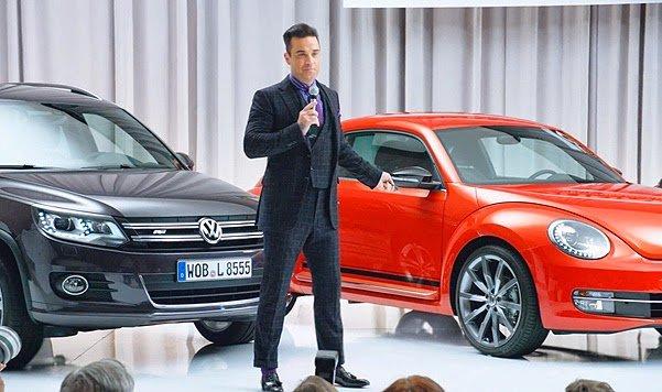 Robbie Williams becomes brand ambassador for Volkswagen