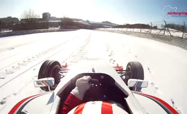 Snow covered Nurburgring tour is impressive