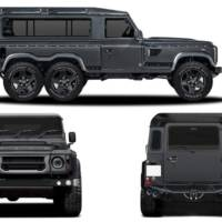 Land Rover Defender with six wheels by Kahn Design is ready to be delivered in Geneva