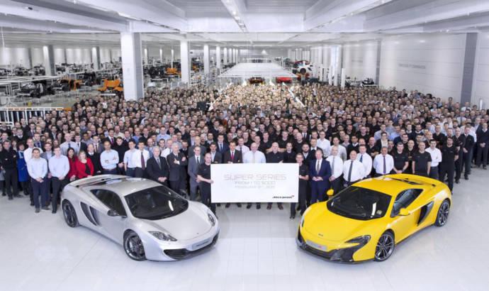 McLaren Super Series range reach 5000 units produced