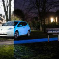 Nissan Leaf offered with night-glowing paint