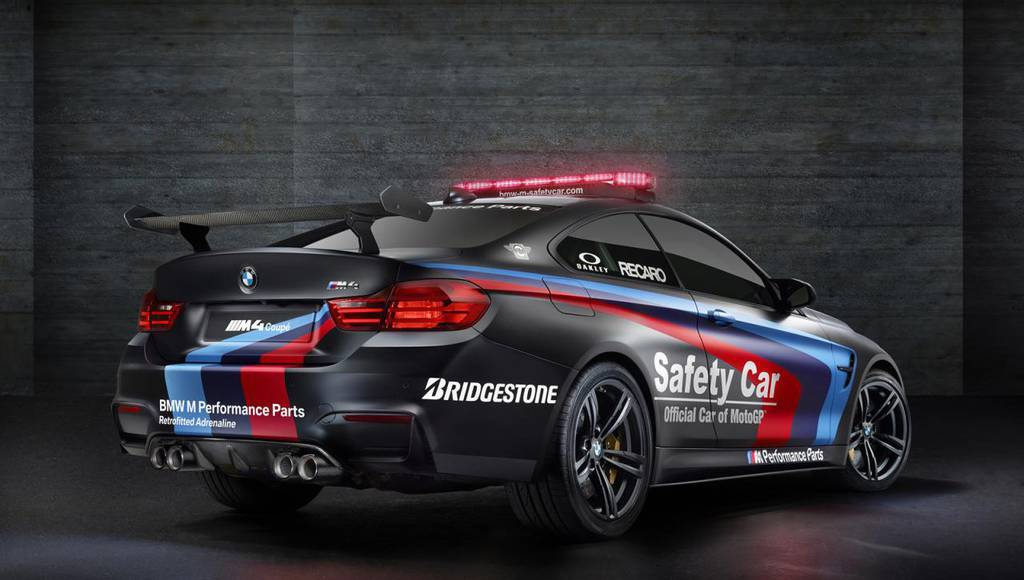 The 2015 BMW M4 Coupe MotoGP safety car has water injection system