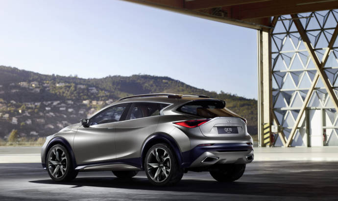 Infiniti QX30 Concept photo reveals back-end design